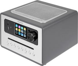 NOXON iRadio 500 CD alles-in-één radio met DAB+, FM en internetradio, USB, Bluetooth en CD, antraciet