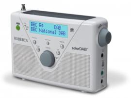 Roberts SolarDAB 2 radio met DAB+ en FM met zonnepaneel, wit