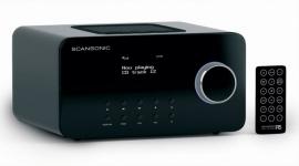 Scansonic R5 FM radio met CD speler, zwart