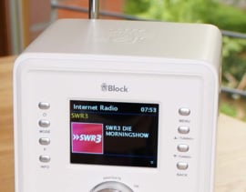 Block CR-10 Smartradio met DAB+, internet en Spotify, wit
