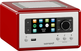 sonoro RELAX SO-810 internetradio met DAB+, FM, Spotify, Bluetooth en USB, rood