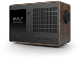 Revo SuperConnect radio met DAB+, internet, streaming, Bluetooth en Spotify, walnut black