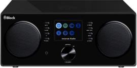 Block CR-20 Stereo smartradio met DAB+, internet en Spotify, hoogglans zwart