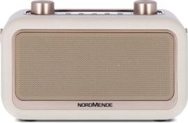 Nordmende Transita 30 draagbare retro DAB+ en FM stereo radio met Bluetooth, beige