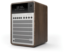 Revo SuperSignal radio met FM, DAB+ en aptX Bluetooth, walnut silver, OPEN DOOS