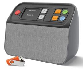 Unforgettable DAB+ en FM radio  met USB muziekspeler, zeer makkelijk te bedienen, dementie radio, grijs