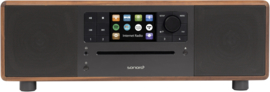 Sonoro Prestige SO-330 V3 stereo internetradio met DAB+, FM, CD, Spotify, Bluetooth en USB, walnoot - antraciet
