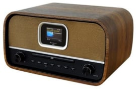 Soundmaster DAB970BR stereo retro DAB+ en FM radio met CD, Bluetooth en USB