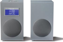 Tivoli Audio Model 10+ DAB+ en FM stereo radio systeem met extra luidspreker, Light Aluminium, EX SHOWMODEL