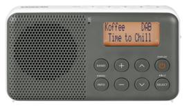 Sangean Pocket 640 (DPR-64) oplaadbare zakradio met DAB+ en FM, grijs-wit
