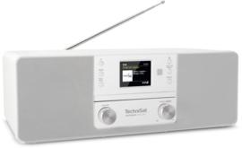 TechniSat DigitRadio 370 CD IR stereo tafelradio met internet, DAB+ digital radio, CD en USB, wit