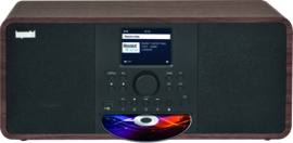 Imperial DABMAN i205 CD stereo hybride internetradio met DAB+ en FM en Bluetooth 5.0, walnoot