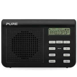 Pure One Mi Series II - mini digitale radio met DAB+ en FM - zwart