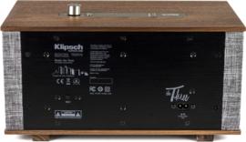 Klipsch The Three hi-fi Bluetooth luidspreker met Google Assistant, Walnoot