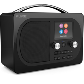 Pure Evoke H4 Prestige Edition draagbare DAB+, FM en Bluetooth radio, zwart