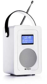 Steljes audio SA20 draagbare oplaadbare radio met DAB+, FM en Bluetooth, wit