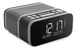 Pure Siesta S6 Luxe DAB+ en FM wekker radio met Bluetooth, Graphite