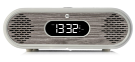 View Quest Rosie-Lee DAB+ wekkerradio met FM en Bluetooth, Light Grey Limed Oak