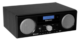 Roadstar HRA 9 BK stereo DAB+ radio met CD, USB en Bluetooth, zwart