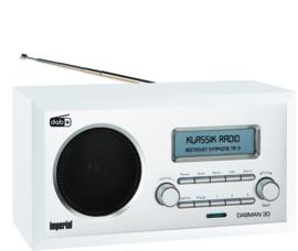 Imperial DABMAN 30 retro houten DAB+ en FM radio, wit