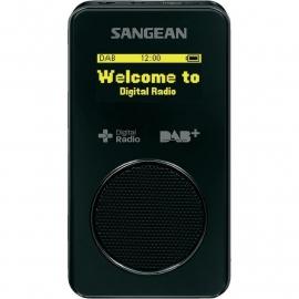 Sangean DPR-36 pocketradio met DAB+ / FM en SD recording, zwart