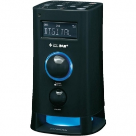 Sangean DCR-200 DAB+ / FM wekkerradio met moodlight, zwart