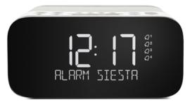 Pure Siesta S6 Luxe DAB+ en FM wekker radio met Bluetooth, Polar White
