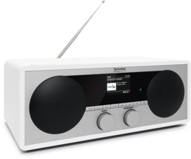 TechniSat DigitRadio 451 CD IR stereo houten wifi internetradio met CD, DAB+ en FM, wit