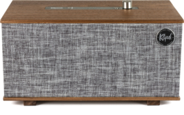 Klipsch The Three hi-fi Bluetooth luidspreker met Google Assistant, Walnoot, OPEN DOOS