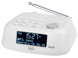 Trevi RC 80D4 DAB wekker radio met DAB+ en FM, wit