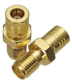 Verloop adapter connector SMA BINNEN female naar SMB female / koppelstuk