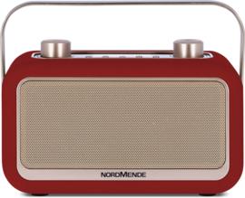Nordmende Transita 30 draagbare retro DAB+ en FM stereo radio met Bluetooth, rood