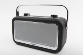 POP RADIO POPvintage DAB+/FM radio met Bluetooth, alarm en 20 instelbare presets, zwart
