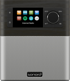 sonoro STREAM SO-410 internetradio met DAB+, FM, Bluetooth en USB, oak - silver