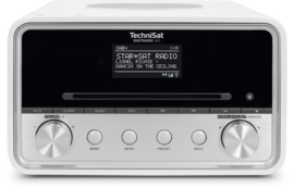 TechniSat DigitRadio 585 stereo internetradio met CD, USB, DAB+ en Bluetooth, wit, OPEN DOOS