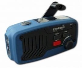POWERplus Panther opwindbare radio en zaklantaarn met zonnepaneel