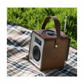Ruark Audio R1 CarryPack lederen beschermhoes / draagtas, bruin