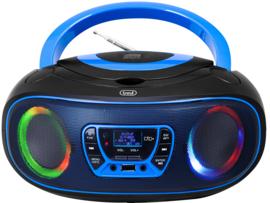 Trevi CMP 583 draagbare disco radio met DAB+, FM, en CD speler, blauw