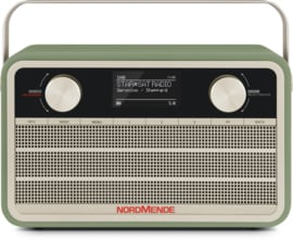 Nordmende Transita 120 IR oplaadbare draagbare internet, DAB+ en FM radio, groen