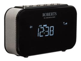 Roberts Ortus 1 DAB+ en FM wekker klokradio, zwart