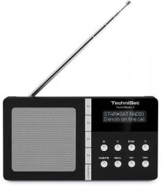 TechniSat TechniRadio 1 DAB+ en FM reisradio met alarm, zwart