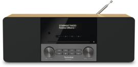TechniSat DIGITRADIO 3 stereo tafelradio met DAB+ digital radio, FM, Bluetooth, CD-speler en USB, eiken