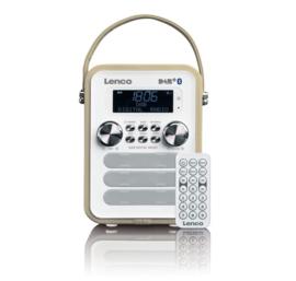Lenco PDR-050 - draagbare DAB+/ FM radio met bluetooth en analoge ingang, taupe