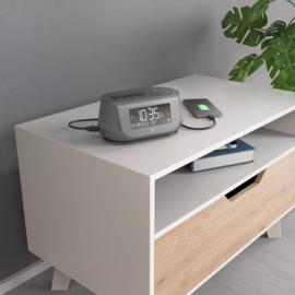 Hama DR36SBT stereo DAB+ en FM wekker radio met Bluetooth en oplaadfunctie, zwart