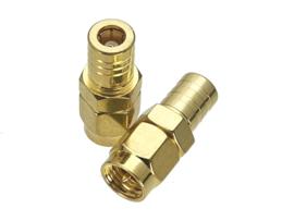 Verloop adapter connector SMA male naar SMB female / koppelstuk