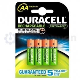 Oplaadbare AA batterijen, Duracell, 4 stuks