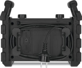 TechniSat DigitRadio 230 OD portable stereo DAB+ en FM bouwradio met ingebouwde accu, zwart