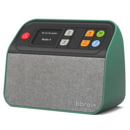 BBrain DAB+ en FM radio met USB muziekspeler, zeer makkelijk te bedienen, groen