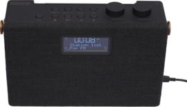 Maximum F7 stereo draagbare radio met DAB+, FM en Bluetooth ontvangst, zwart