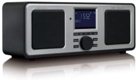 Lenco DAR-015 Stereo DAB+ en FM radio met Bluetooth, alarm en presets, zwart, OPEN DOOS
